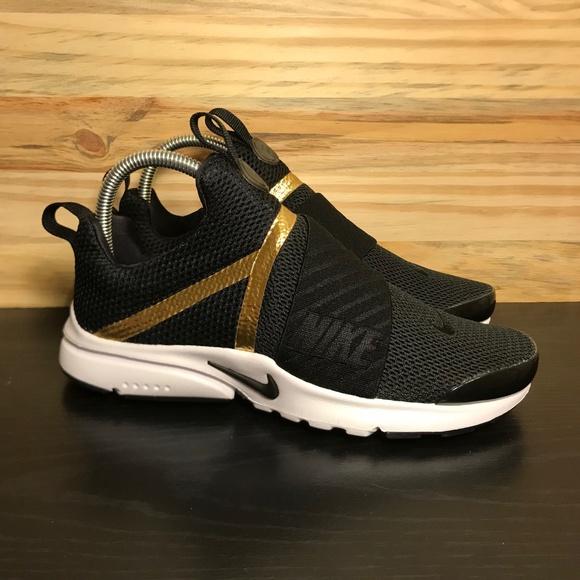 buy popular b4896 5417b New Nike Presto Extreme Gold Black Women's Shoes NWT